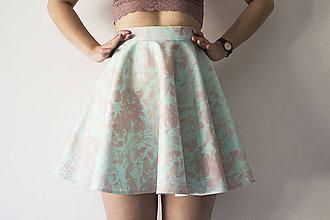Sukne - Skater Skirt green-pink - 9310743_
