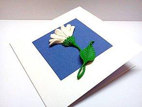 Papiernictvo - Pohľadnica ... Biely kvet - 9310280_