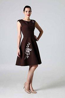 Šaty - Hnedá ruža - 9310101_