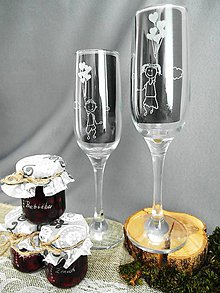 Nádoby - Svadobné poháre, balóniky - 9308666_