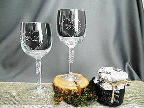 Nádoby - Svadobné poháre, mini srdiečka - 9308851_