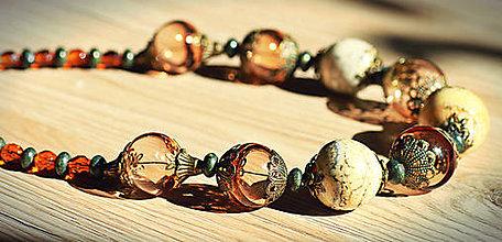 Náhrdelníky - Náhrdelník z fúkaného skla - 9310796_