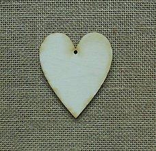 Polotovary - Výrez z preglejky - srdce, 10x8 cm - 9308619_