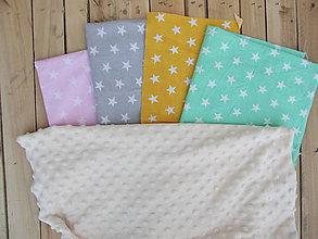Textil - Minky detská deka hviezdy - 9309557_