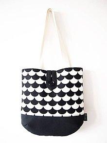 Veľké tašky - Veľká taška na plece - minimal čiernobiela - 9309654_