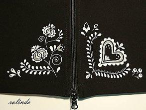Kabáty - Softshellový kabát - folklór - 9309783_