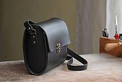 Kabelky - Kožená kabelka RONDIE - čierna - 9307175_