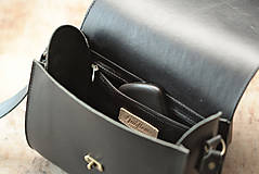 Kabelky - Kožená kabelka RONDIE - čierna - 9307176_