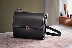 Kabelky - Kožená kabelka RONDIE - čierna - 9307177_