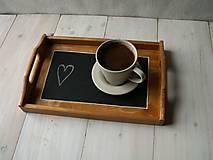 Nádoby - Tácka s písacou tabuľkou - 9308474_