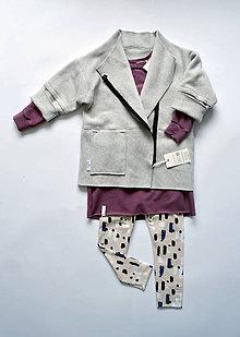 Detské oblečenie - asymetricky Kardigán - 9310684_