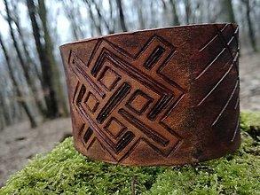 Náramky - Kožený náramok -