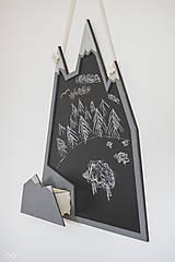 Tabuľky - Drevená nástenná tabuľa VRCHOLKY HÔR - 9308383_