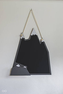 Tabuľky - Drevená nástenná tabuľa VRCHOLKY HÔR - 9308378_
