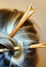 Ozdoby do vlasov - Ihlice do vlasov z mahagónu I. - 9307181_