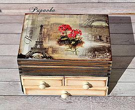 Krabičky - Šperkovnica retro Paríž - 9308149_