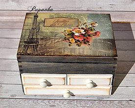 Krabičky - Šperkovnička retro Paríž - 9308161_