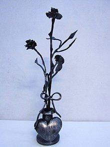 Dekorácie - Kovaná kytica ruží - 9308788_