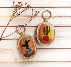 Kľúčenky - Prívesok na kľúče Kaktus - 9308271_