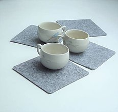 Úžitkový textil - Podšálky 6 ks - 9308501_