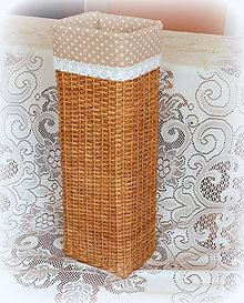 Košíky - Košík na dáždniky (Biela) - 9309378_