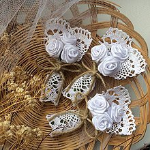 Pierka - Veľké svadobné pierka Village - biele - 9307424_