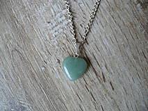 - prívesok menšie srdce z Aventurínu-Býk, RAk, Strelec - 9309973_