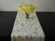 Úžitkový textil - Obrus - Jarné kvety - 9315026_