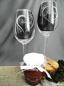 Nádoby - Svadobné poháre, klobúk a mašlička - 9312075_