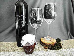 Nádoby - Svadobné poháre, malé srdiečko - 9312195_