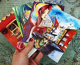 Papiernictvo - Napíš niekomu/ #dreadkuar pohľadnice - 9312821_