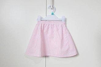 Detské oblečenie - Ružovo-biela pruhovaná suknička - 9312766_