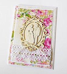 Papiernictvo - pohľadnica svadobná - 9311652_