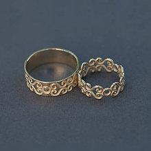 Prstene - 3D obrúčky v zlate - 9315132_