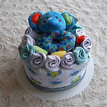 Detské doplnky - Plienková torta - malá - 9315235_