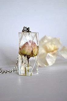 Náhrdelníky - Náhrdelník Krištáľová ruža (2396 A CHO) - 9313000_