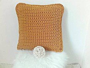 Úžitkový textil - Vankúš horčicový na 40x40cm - 9313458_