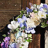 Dekorácie - Modrý veniec s hortenziou - 9313936_