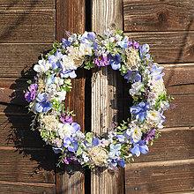 Dekorácie - Modrý veniec s hortenziou - 9313941_