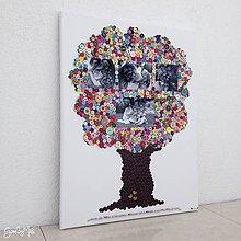 Obrazy - Gombíkový obraz - Strom rodiny - 9315102_