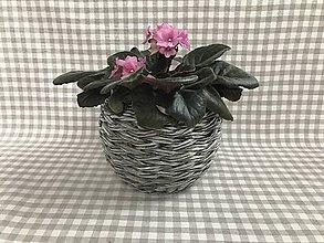 Nádoby - Kvetináč keramický - Malá guľka - 9312561_