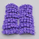 KT101 Penové ružičky s perličkou 2 cm / 12 kusov (Fialová)