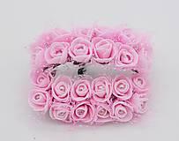 Polotovary - Dopredaj! KT101 Penové ružičky s perličkou 2 cm / 12 kusov - 9313119_