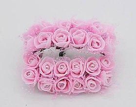 Polotovary - KT101 Penové ružičky s perličkou 2 cm / 12 kusov - 9313119_
