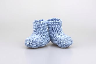 Topánočky - Bledomodré čižmy EXTRA FINE - 9313343_