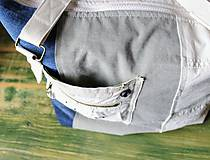 Veľké tašky - Ľanovo-denimová taška - 9313546_