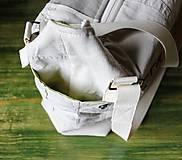 Veľké tašky - Ľanovo-denimová taška - 9313549_