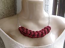 Náhrdelníky - Uzlový náhrdelník s retiazkou - 9313082_