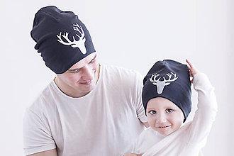 Doplnky - Čiapka jeleň čierna - 9311859_