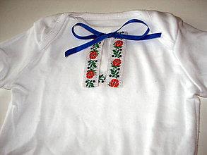 Detské oblečenie - body s folk stuhou - 9313015_